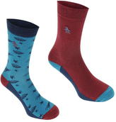 Penguin Space Socks 2 Pk Mens