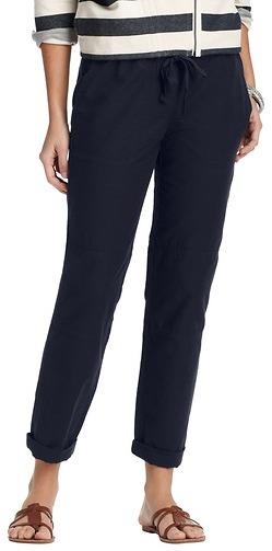 LOFT Cotton Linen Ribbed Seam Pants