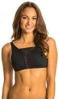 Jag Swimwear Shibori Solids Hi Neck Strappy Bra Bikini Top 8134757