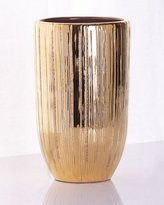 AERIN Combed Textured Small Gold Vase