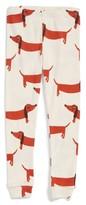 Mini Rodini Girl's Dog Organic Cotton Leggings