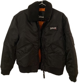Schott Black Synthetic Jackets