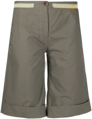 Mr & Mrs Italy flared bermuda shorts