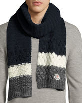 Moncler Cashmere Mixed-Knit Scarf