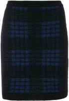 Balmain checked knitted skirt - women - Polyamide/Viscose/Mohair/Wool - 36