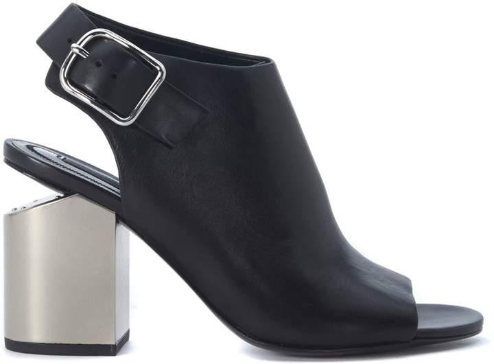 Alexander Wang Nadia Black Leather Heeled Sandal