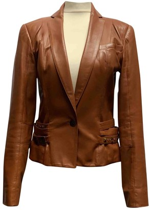 Christian Dior Camel Leather Jackets