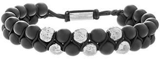 Steve Madden Polished Bead Double Strand Bracelet