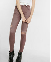 Express high waisted destroyed twill ankle leggings