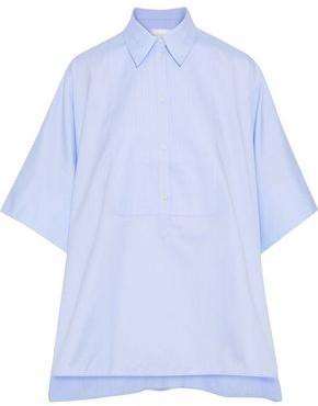 Victoria Victoria Beckham Oversized Cape-effect Cotton-oxford Shirt