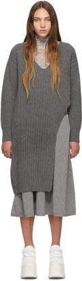 Stella McCartney Grey Slashed Sweater