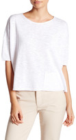 Eileen Fisher Bateau Neck Slub Linen & Cotton Sweater (Petite)