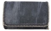 Bungalow 20 Sloane Clutch In Black Denim.