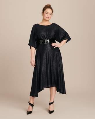 Sally LaPointe Metallic Knit Circle Skirt