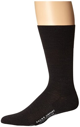 Falke Airport Crew Socks (Black) Men's Low Cut Socks Shoes