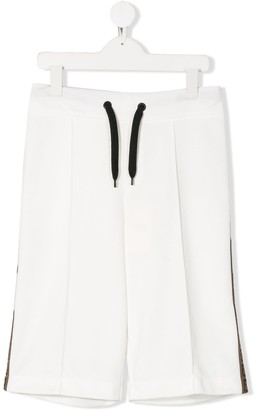 Fendi Kids TEEN drawstring track shorts