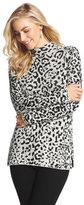 Chico's Chauncey Cheetah Cowl Neck Sweater