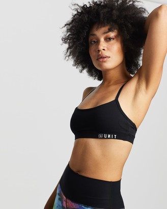 Unit Women's Black Crop Tops - Tempo Strap Sports Bra - Size One Size, 8 at The Iconic