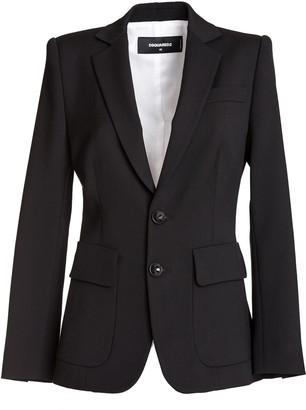 DSQUARED2 Wool Cady Sabrina Blazer In Black