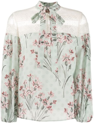 RED Valentino Floral Pattern Blouse