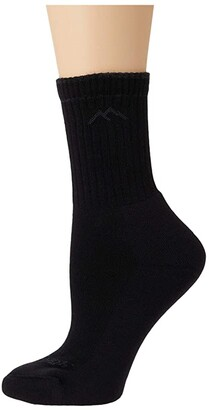 Darn Tough Vermont Hiker Micro Crew Midweight with Cushion (Onyx) Women's Crew Cut Socks Shoes