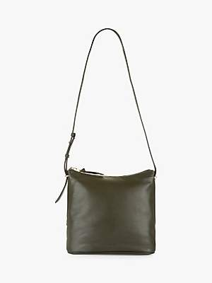 Jaeger Maisie Small Hobo Leather Shoulder Bag