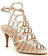 Vince Camuto Paxton Metallic Nubuck Caged Dress Sandals