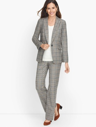 Talbots Luxe Italian Flannel Blazer - Countryside Plaid