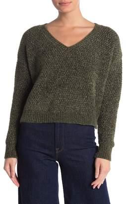 Double Zero Fuzzy Chenille V-Neck Sweater