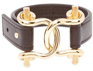 Bottega Veneta Horsebit Leather Bracelet - Black