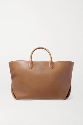 KHAITE Envelope Pleat Medium Leather Tote - Camel