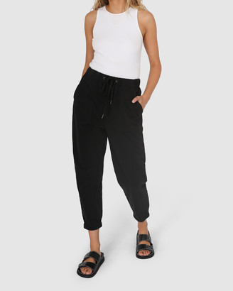 Madison The Label - Women's Black Cropped Pants - Kara Joggers - Size One Size, S at The Iconic