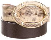 Dolce & Gabbana Lizard Waist Belt