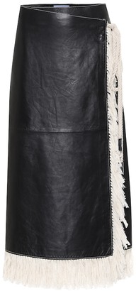 Stand Studio Eve fringe-trimmed leather skirt