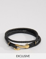 Seven London Hook Bracelet In Black Exclusive To Asos