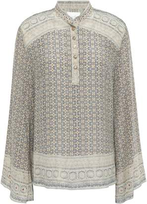 Camilla Overnight Bag Crystal-embellished Printed Silk-jacquard Blouse