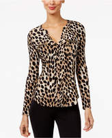 INC International Concepts Printed Zip-Detail Top, Created for Macy's