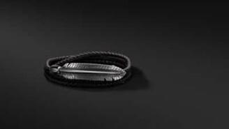 David Yurman Southwest Triple-Wrap Bracelet In Black Leather With