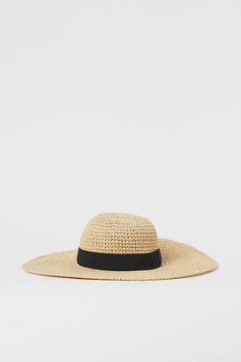 H&M Grosgrain-band Straw Hat