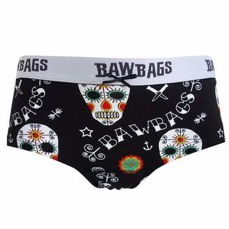 Bawbags Women's Day of The Dead Cotton Underwear - Black 14