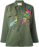 Night Market - peacock studded jacket - women - Cotton - One Size
