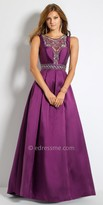 Camille La Vie Beaded Illusion Mikado Evening Dress