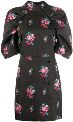 MSGM Floral Puff Sleeve Dress
