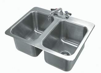 """Advance Tabco 304 Series 25.5"""" x 19"""" Drop-In Service Sink with Faucet Advance Tabco"""
