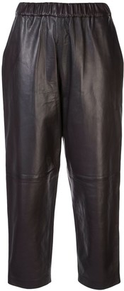 Dusan Cropped Straight-Leg Trousers