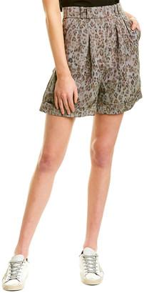 IRO Pleated Linen-Blend Short