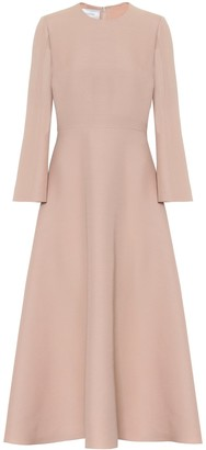 Valentino wool and silk midi dress