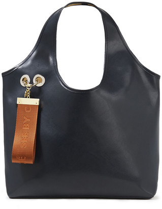 See by Chloe Jay Embellished Washed-leather Tote