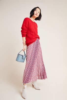 Maeve Hildi Pleated Midi Skirt
