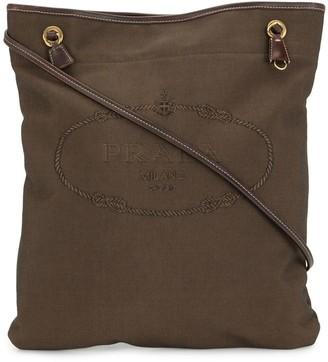 Prada Pre-Owned Embroidered Logo Crossbody Bag